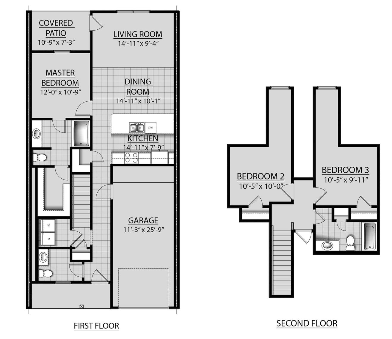 3 Bed / 2.5 Bath Cypress Plan